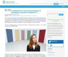 Implantación de entornos personales de aprendizaje en la Empresa 2.0 (Talaentia)