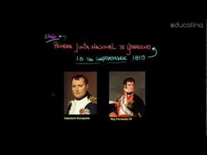 Chile: 1810. Primera Junta Nacional de Gobierno