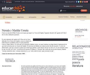 Neruda y Matilde Urrutia (Educarchile)