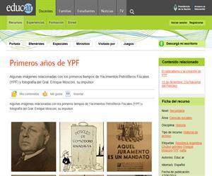 Primeros años de YPF
