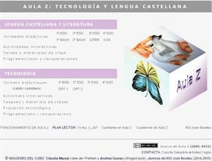 AulaZ: materiales y recursos didácticos de Lengua Castellana y Literatura y  de Tecnología (ESO-Bachillerato)