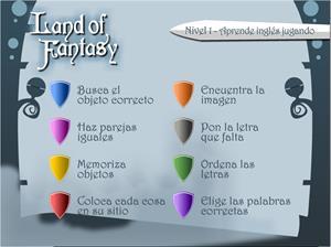 Land of fantasy (Nivel 1). Aprende inglés jugando