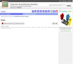 Singing. Complete the sentences (Selectividad.tv)
