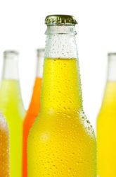 Which has the most sugar: Fruit Juice, Fresh Squeezed Fruit Juice, Organic Fruit Juice, or Soda?