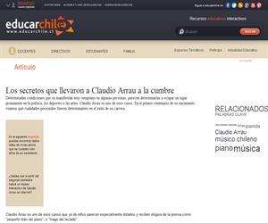 Los secretos que llevaron a Claudio Arrau a la cumbre (Educarchile)