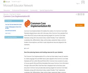 Common Core Implementation Kit