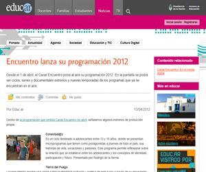 Encuentro lanza su programación 2012