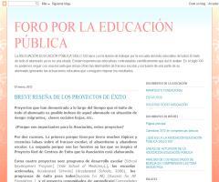 Breve reseña de los proyectos de éxito escolar - Foro por la Educación Pública