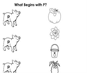 Activity Sheet - Draw a line to P (Educarchile)
