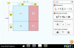 Azalera-modeloan algebra