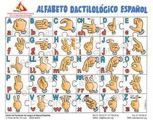 Alfabeto dactilológico español de la Federación de personas sordas de la Comunidad de Madrid