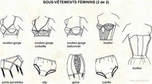 Sous-vêtement féminins 2 (Dictionnaire Visuel)