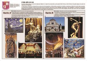 Examen de Selectividad: Historia del arte. Castilla y León. Convocatoria Junio 2014