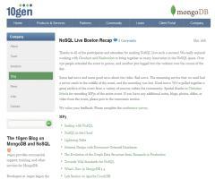 NoSQL Live Boston Recap (10gen)