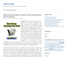 Knowledge Management in Health Care Using Semantic Web Technology