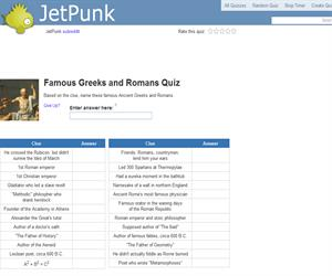Famous Greeks and Romans Quiz