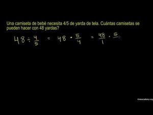 Problema escrito de división de fracciones (Khan Academy Español)