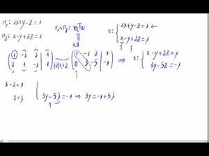 Punto y vector de una recta en forma implícita (en 3D) Opción 2