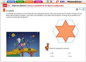 Áreas y perímetros de figuras poligonales. Matemáticas para 2º de Secundaria
