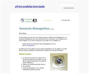 Sustancias diamagnéticas