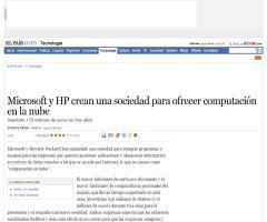 Microsoft y HP crean una sociedad para ofrecer computación en la nube · ELPAÍS.com
