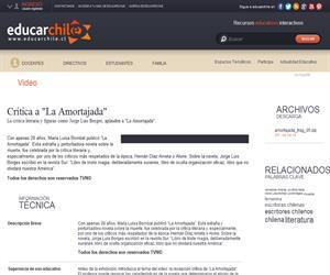 "Crítica a ""La Amortajada"" (Educarchile)"