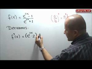 Derivada de una función que contiene el número de Euler (JulioProfe)
