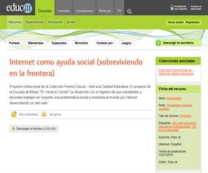 Internet como ayuda social (sobreviviendo en la frontera)