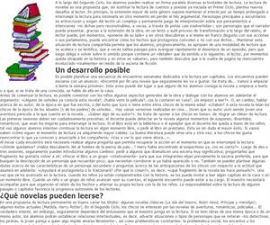 Leer novelas, actividad permanente en Segundo Ciclo