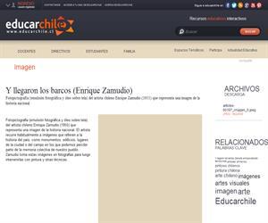 Y llegaron los barcos (Enrique Zamudio) (Educarchile)
