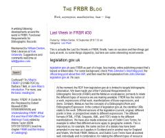 The FRBR Blog: Blog Archive »