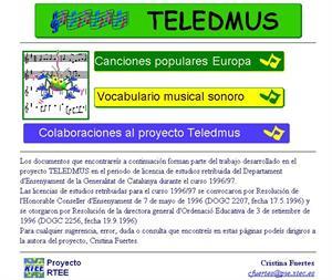 Teledmus: canciones populares de Europa y  vocabulario musical sonoro
