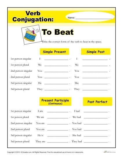 Verb Conjugation: To Beat