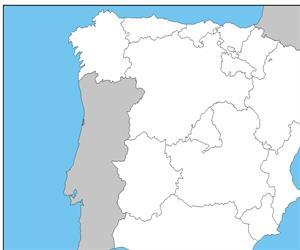 Mapa mudo de españa con comunidades autonomas