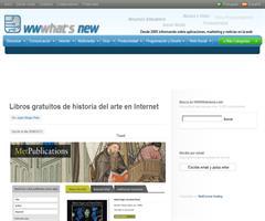 Libros gratuitos de historia del arte en Internet