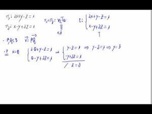 Punto y vector de una recta en forma implícita (en 3D) Opción 1