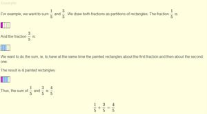 Sum and subtraction of fractions
