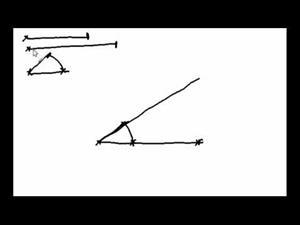 Triángulo dados un ángulo y dos lados