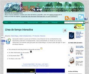 profesorfrancisco.es: línea temporal histórica interactiva