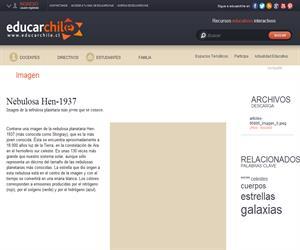 Nebulosa Hen-1937 (Educarchile)