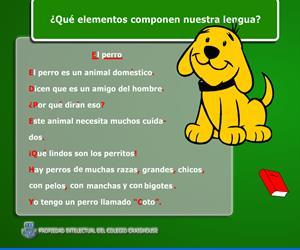 El perro, partes de un texto. Colegio Craighouse (Educarchile)