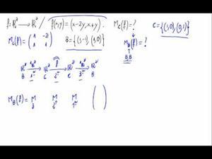 Aplicaciones lineales - Matriz respecto base con fórmula