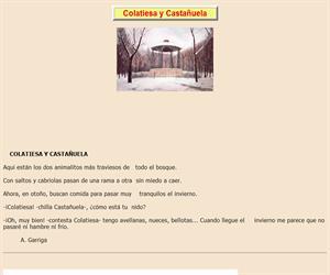 Colatiesa y Castañuela, lectura comprensiva interactiva