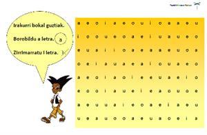 b d p q letren errotazioak zuzentzeko eta bokalak bereizteko lan koadernoa