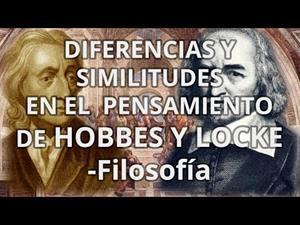 Diferencias y similitudes pensamiento Hobbes y Locke