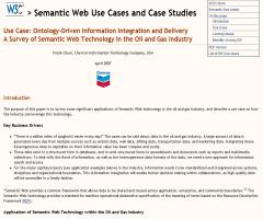 A Survey of Semantic Web Technology in the Oil and Gas Industry