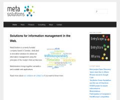 MetaSolutions: Solutions for information management in the Web
