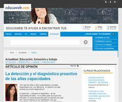La detección y el diagnóstico proactivo de las altas capacidades | Elena Kim (Educaweb.com)
