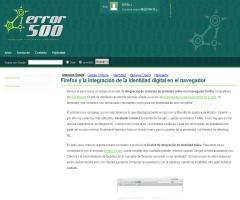 Firefox y la integración de la identidad digital en el navegador | Error500