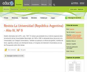 Revista La Universidad (República Argentina) - Año IV, Nº 9